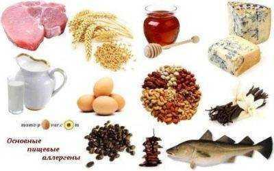 аллергенные продукты питания для детей