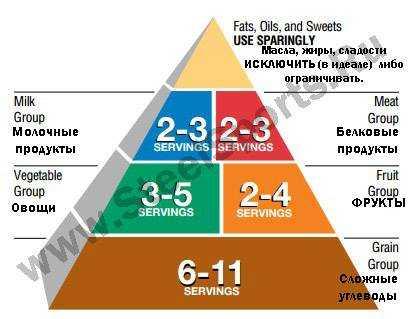 пирамида продуктов питания для детей