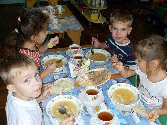 питание детей организуется в помещении