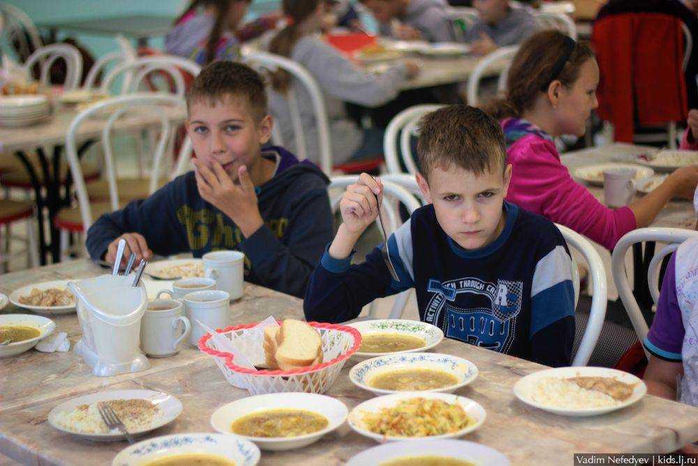 питание детей в летнем лагере