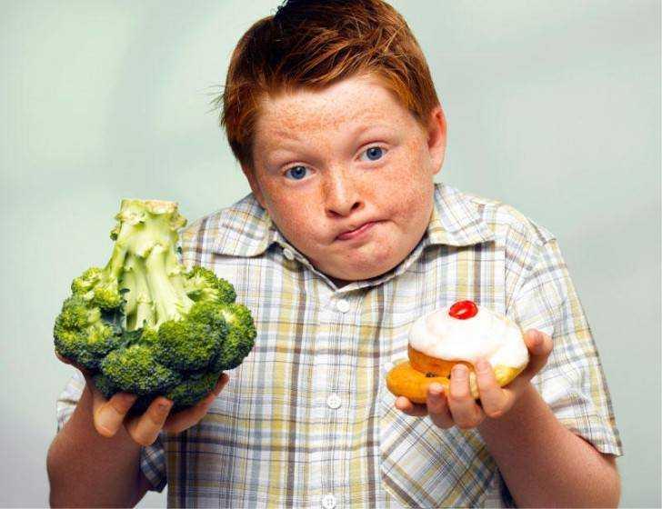 питание для детей с лишним весом