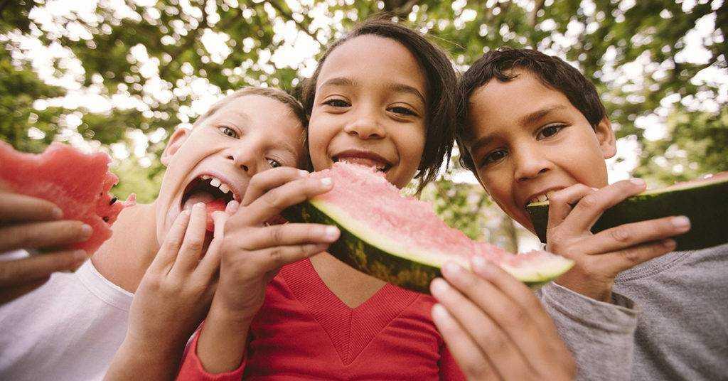 правила питания детей в летний период