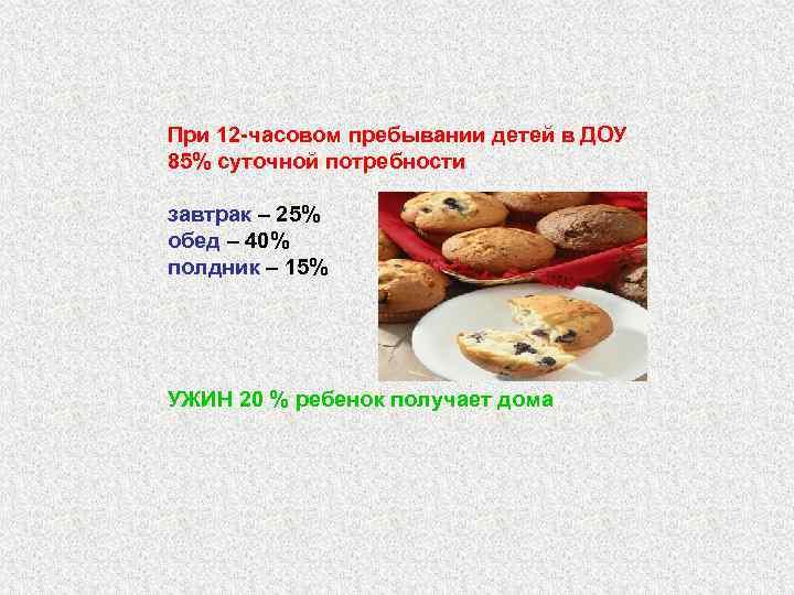 составление гигиенических требований к питанию детей различных возрастных групп