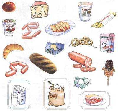 задания для детей на тему продукты питания