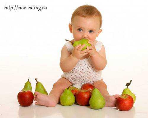 дети на живом питании