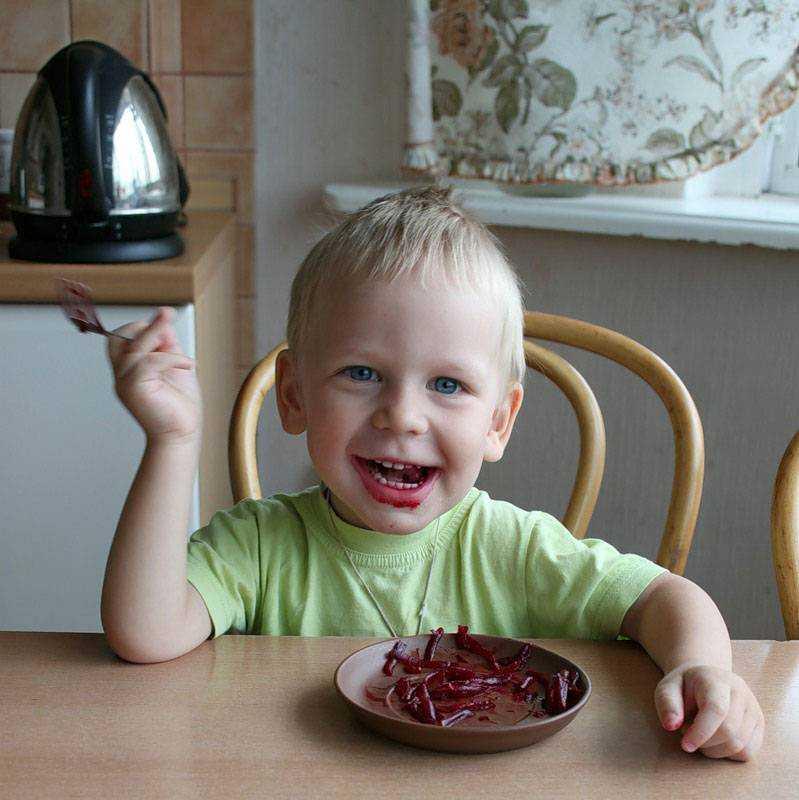 свекла в питании детей