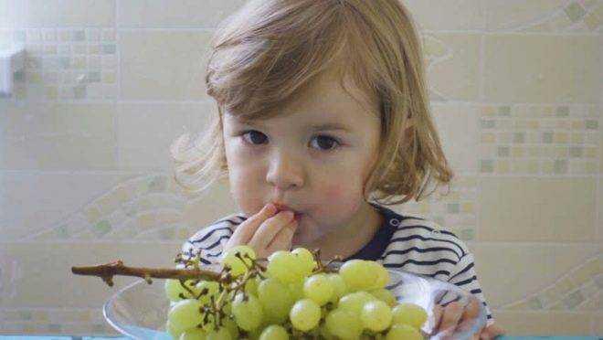 виноград в питании детей